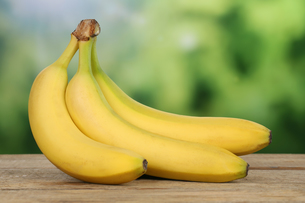 bananas with copy spaceの写真素材 [FYI00685392]