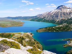 waterton lake national park_alberta_kanadaの写真素材 [FYI00687229]