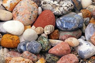 stones from the baltic sea beachの写真素材 [FYI00688219]