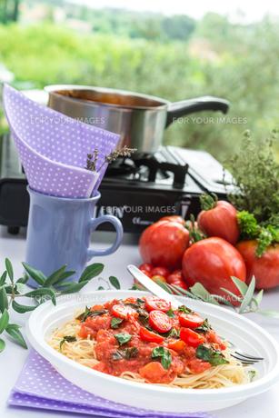 camp pastaの写真素材 [FYI00689268]