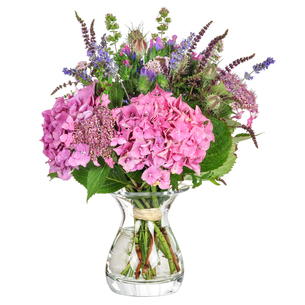 bouquet with herbs and hydrangeaの写真素材 [FYI00689666]