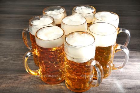 beer mugsの写真素材 [FYI00690675]