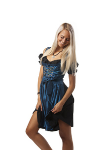 bavarian woman in a dirndlの写真素材 [FYI00691411]