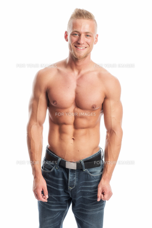 bodybuilder posingの素材 [FYI00691623]
