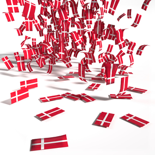 many labels and flags from denmarkの写真素材 [FYI00692058]