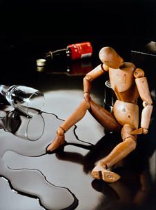 alcohol problem symbolicallyの写真素材 [FYI00692708]