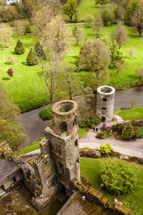 irish castle of blarney,famous for the stone of eloquence. irelandの写真素材 [FYI00692851]