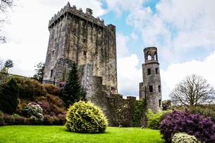 irish castle of blarney,famous for the stone of eloquence. irelandの写真素材 [FYI00692853]
