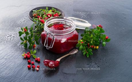 cranberry jamの写真素材 [FYI00692902]