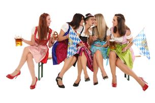 girls group in costumeの写真素材 [FYI00695428]