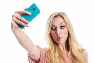 funny selfieの写真素材 [FYI00695490]
