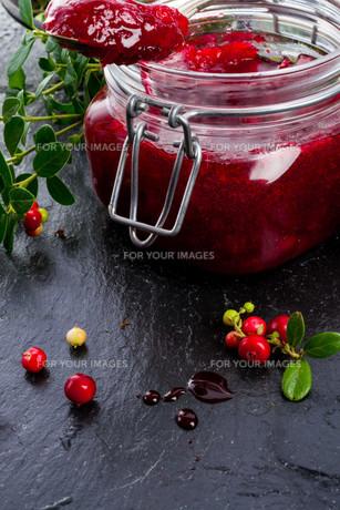 cranberry jamの写真素材 [FYI00695553]