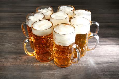beer mugsの写真素材 [FYI00695660]