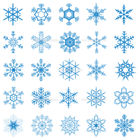 collection of different blue snowflakesの写真素材 [FYI00695869]