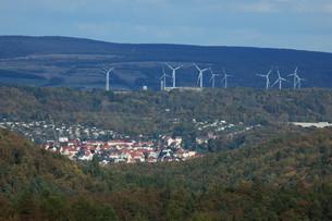 wind power plant in eisenachの写真素材 [FYI00695871]