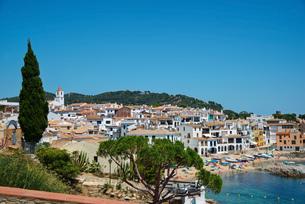 calella de palafrugell at daytime,costa brava,catalonia,spainの写真素材 [FYI00696499]