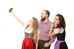 bavarian group at selfieの写真素材 [FYI00696758]