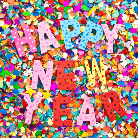 happy new year in colorful lettersの素材 [FYI00697101]