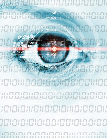 digital binary eyeの写真素材 [FYI00699751]