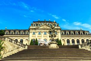 fulda - orangerie terrace in the castle gardenの写真素材 [FYI00700275]