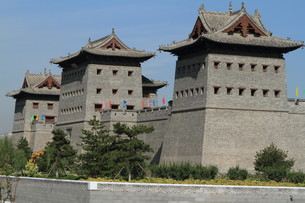 the walled city of datong in chinaの素材 [FYI00700328]