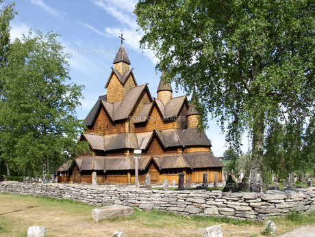 heddal stave church in norwayの素材 [FYI00701195]