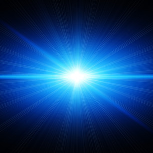 blue energy light in spaceの素材 [FYI00701296]