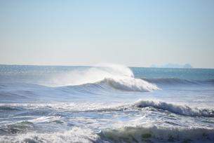 waves at the mediterranean - spainの写真素材 [FYI00701374]