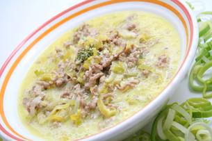 cheese leek soupの写真素材 [FYI00701486]
