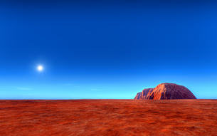 uluru - ayers roch australiaの写真素材 [FYI00701593]
