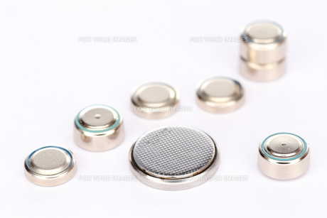 small button cellsの写真素材 [FYI00701667]