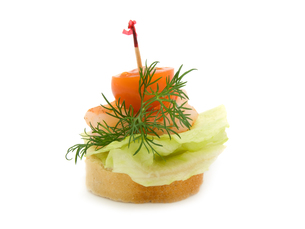 canape made from shrimpの写真素材 [FYI00702101]
