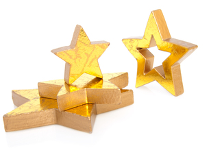 golden christmas stars,isolated on white backgroundの写真素材 [FYI00702136]