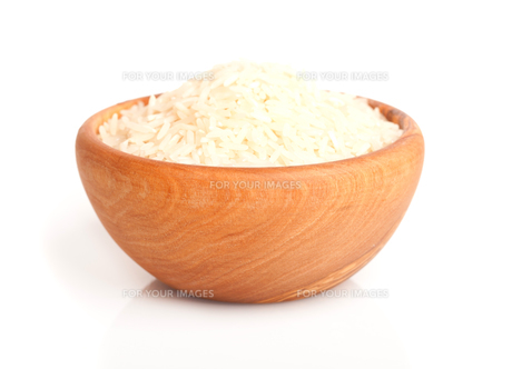 long rice in the wooden bowl.の素材 [FYI00702166]