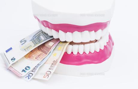 tooth model with moneyの素材 [FYI00702610]