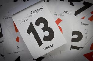 friday the 13th - abreisskalenderの素材 [FYI00703075]