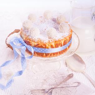 coconut quark cakeの写真素材 [FYI00703121]