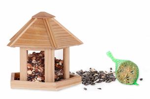 birdhouse with feedingの写真素材 [FYI00703137]