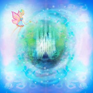 magic fairy tale princess castleの写真素材 [FYI00703623]