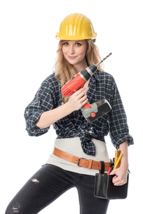 craftsman with drillの写真素材 [FYI00703991]
