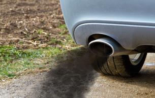 exhaust with exhaust gasesの写真素材 [FYI00704130]