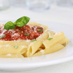 penne with tomato sauce napoli pasta pasta dishの写真素材 [FYI00704840]