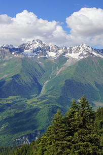 caucasus in mestia,svaneti,georgiaの写真素材 [FYI00704849]