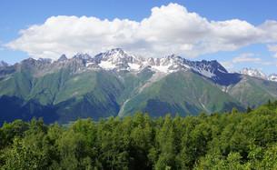 caucasus in mestia,svaneti,georgiaの写真素材 [FYI00704852]