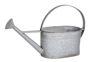 zinc watering can,isolatedの写真素材 [FYI00707235]