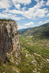 sarca valley in italyの写真素材 [FYI00707642]
