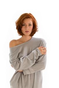redhead on white backgroundの素材 [FYI00707648]