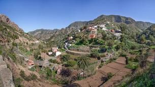 la gomera - the village of banda de las rosasの写真素材 [FYI00707674]