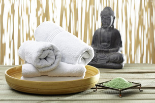 bhuddha,towels,bath saltsの素材 [FYI00707958]
