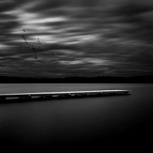 jetty,long exposureの写真素材 [FYI00709500]